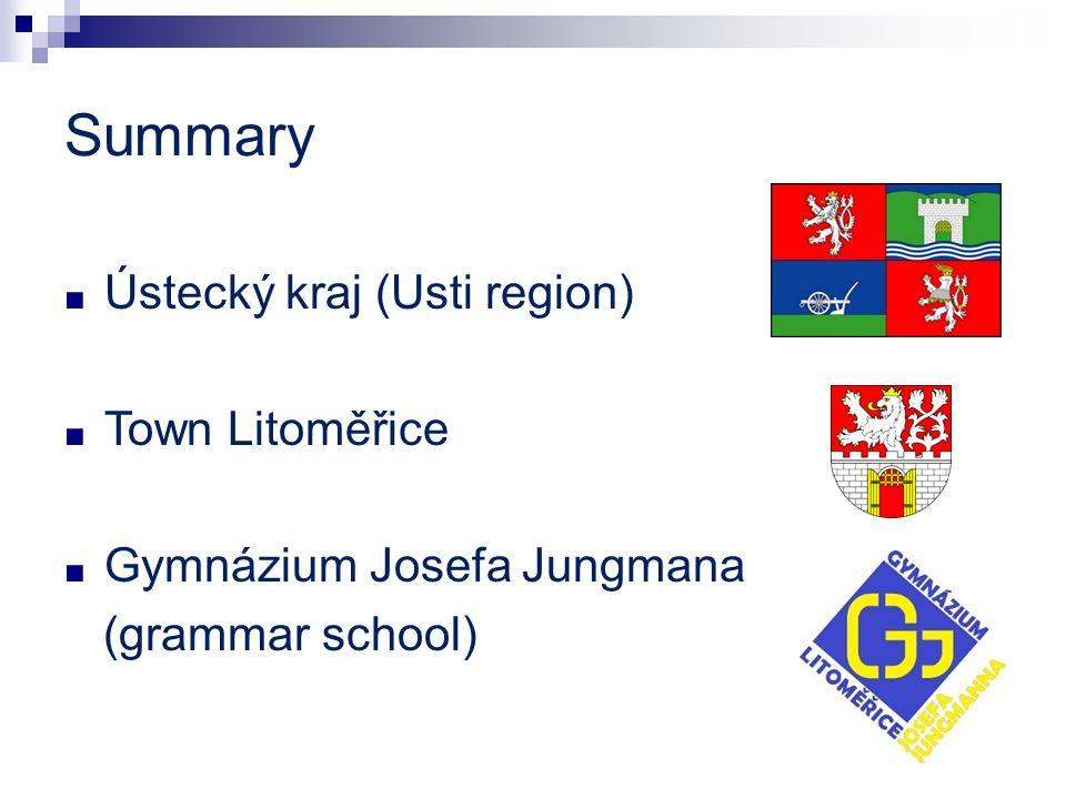 Summary Ústecký kraj (Usti region) Town Litoměřice