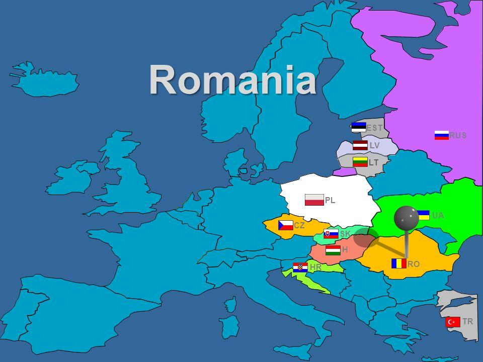 Romania EST RUS LV LT PL UA CZ SK H HR RO TR