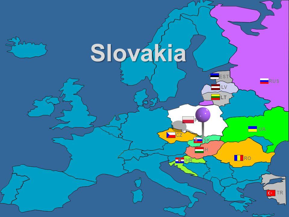 Slovakia EST RUS LV LT PL UA CZ SK H HR RO TR