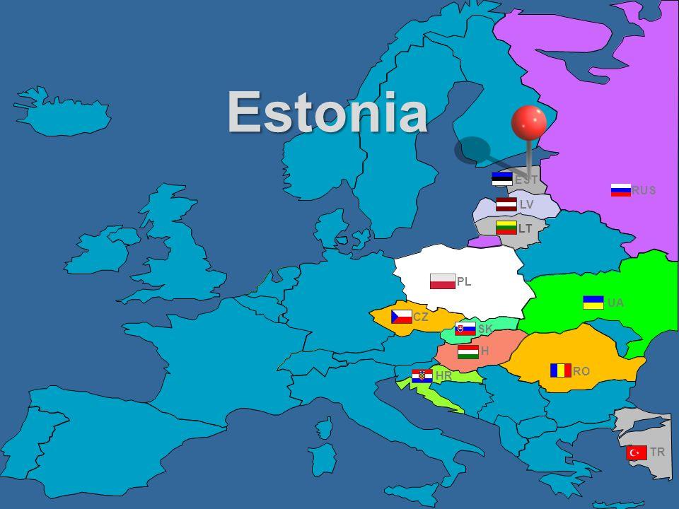 Estonia EST RUS LV LT PL UA CZ SK H HR RO TR