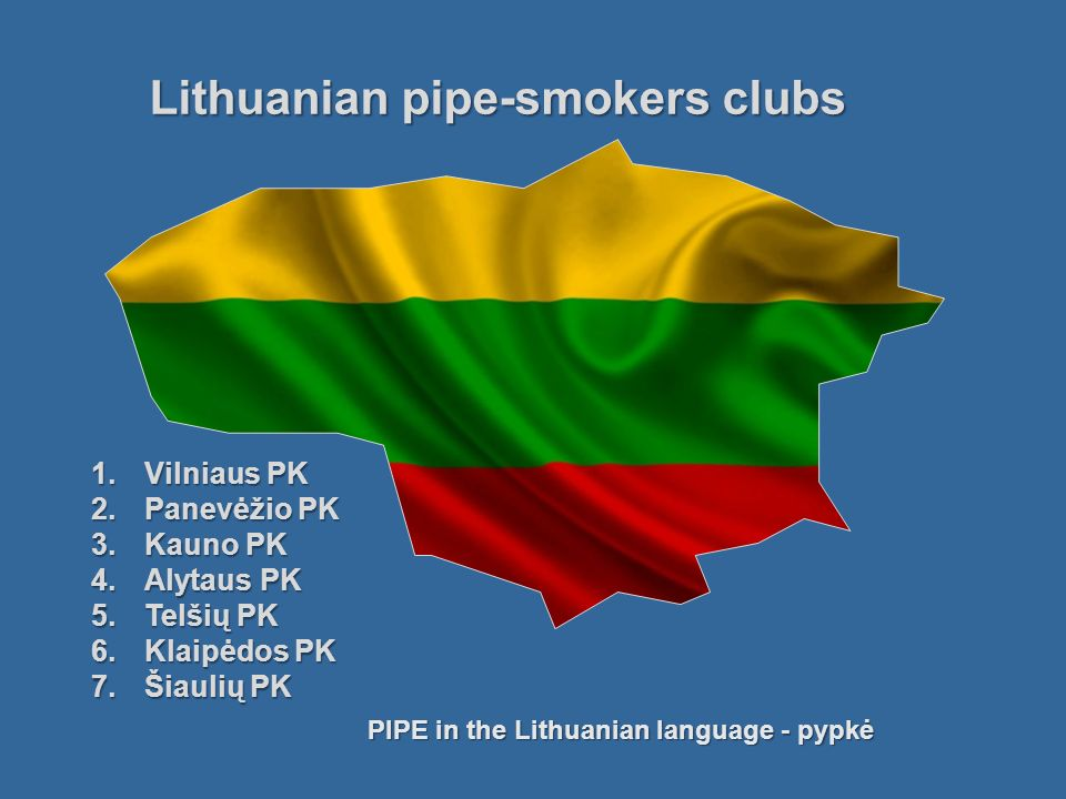 Lithuanian pipe-smokers clubs