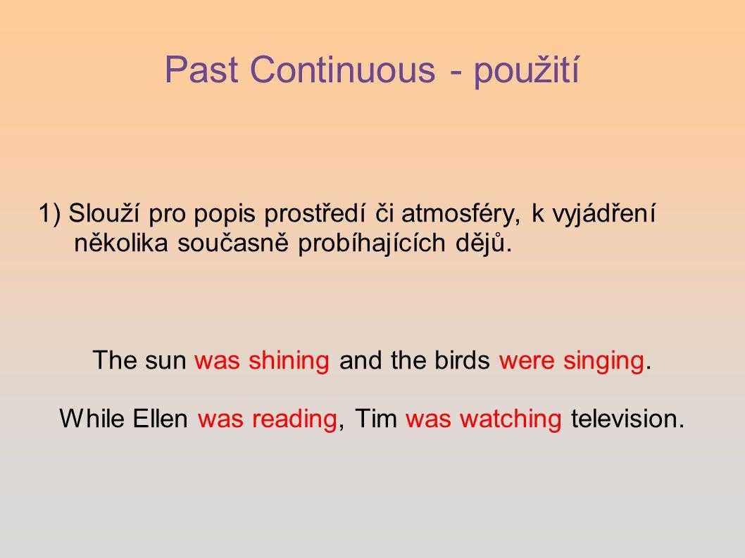 Past Continuous - použití