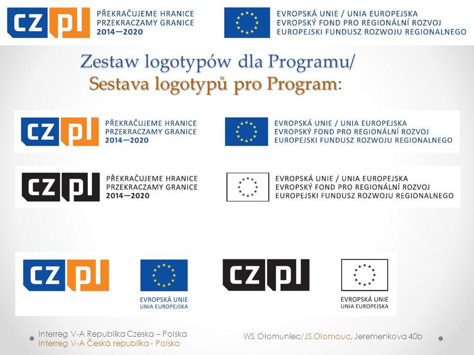 Zestaw logotypów dla Programu/ Sestava logotypů pro Program: