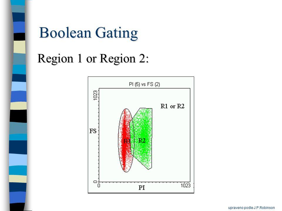 Boolean Gating Region 1 or Region 2: upraveno podle J.P.Robinson