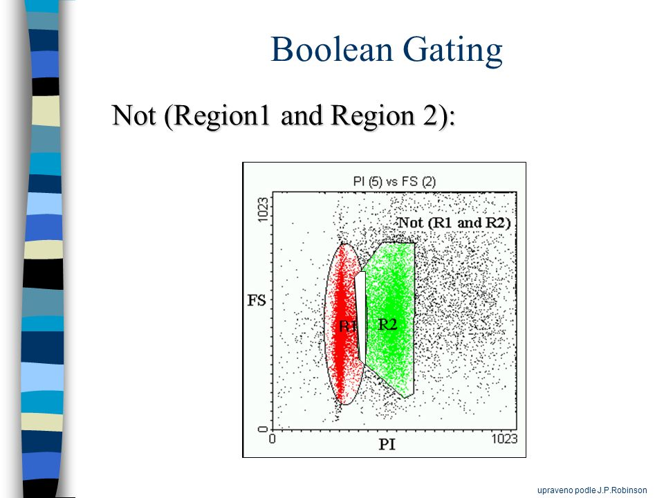 Boolean Gating Not (Region1 and Region 2): upraveno podle J.P.Robinson