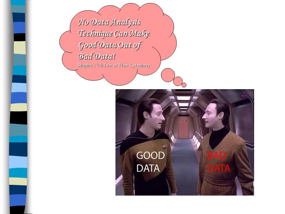 No Data Analysis Technique Can Make Good Data Out of Bad Data!