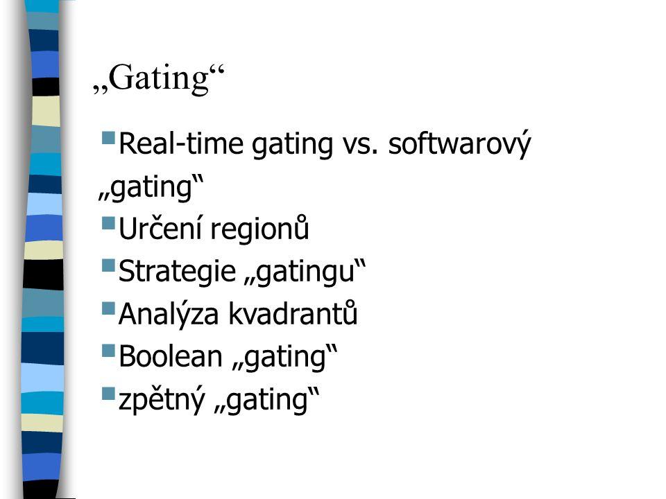 """""""Gating Real-time gating vs. softwarový """"gating Určení regionů"""