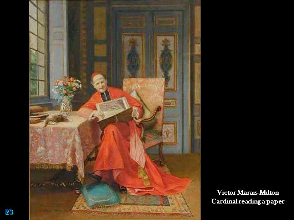 Victor Marais-Milton Cardinal reading a paper