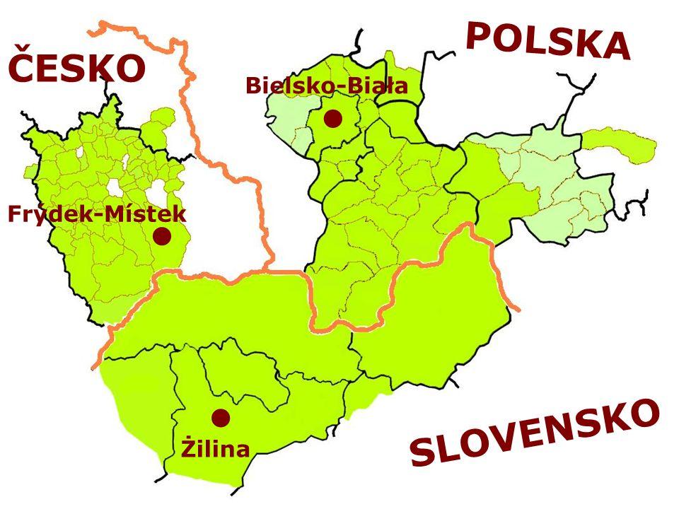 POLSKA ČESKO Bielsko-Biała Frýdek-Místek SLOVENSKO Żilina