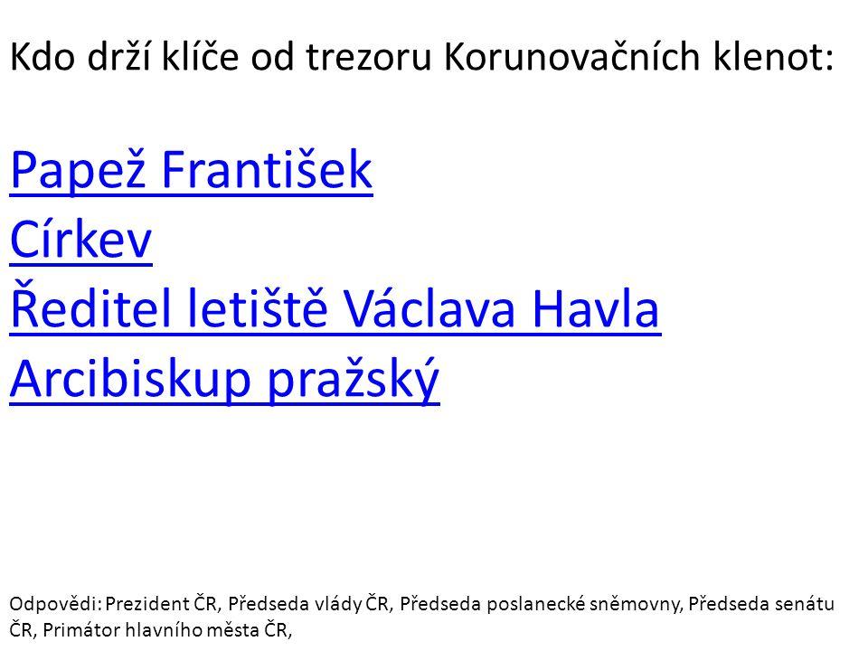 Ředitel letiště Václava Havla Arcibiskup pražský
