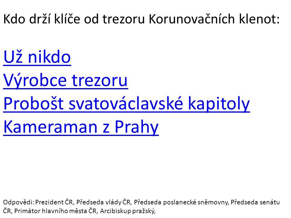 Probošt svatováclavské kapitoly Kameraman z Prahy