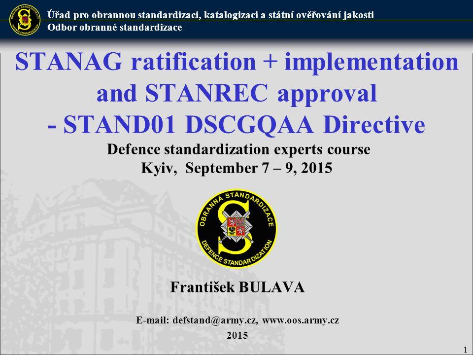 František BULAVA E-mail: defstand@army.cz, www.oos.army.cz 2015