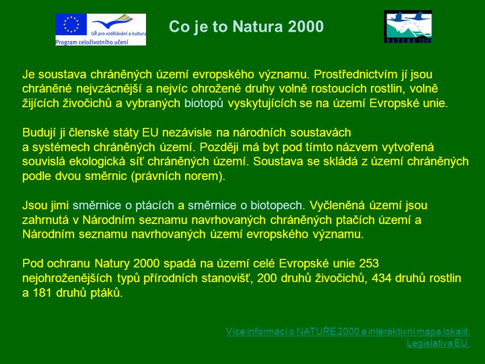 Co je to Natura 2000