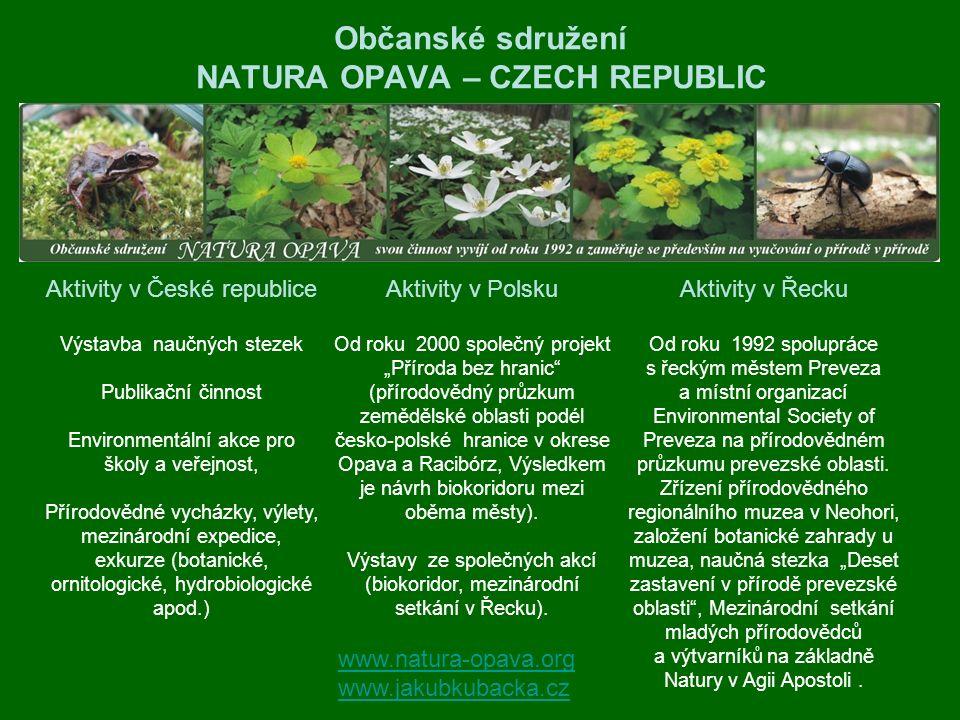 Občanské sdružení NATURA OPAVA – CZECH REPUBLIC