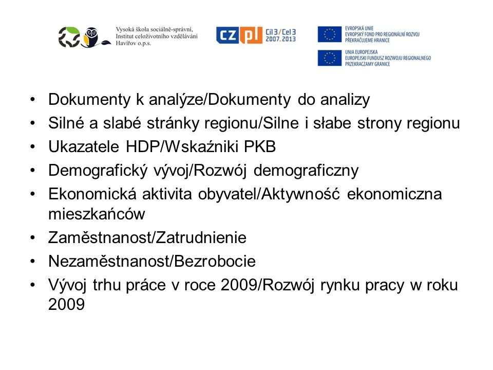 Dokumenty k analýze/Dokumenty do analizy