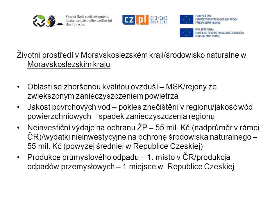 Životní prostředí v Moravskoslezském kraji/środowisko naturalne w Moravskoslezskim kraju
