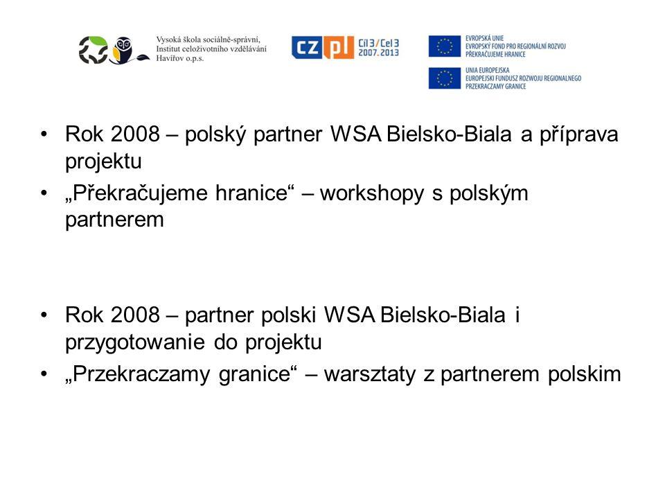 Rok 2008 – polský partner WSA Bielsko-Biala a příprava projektu