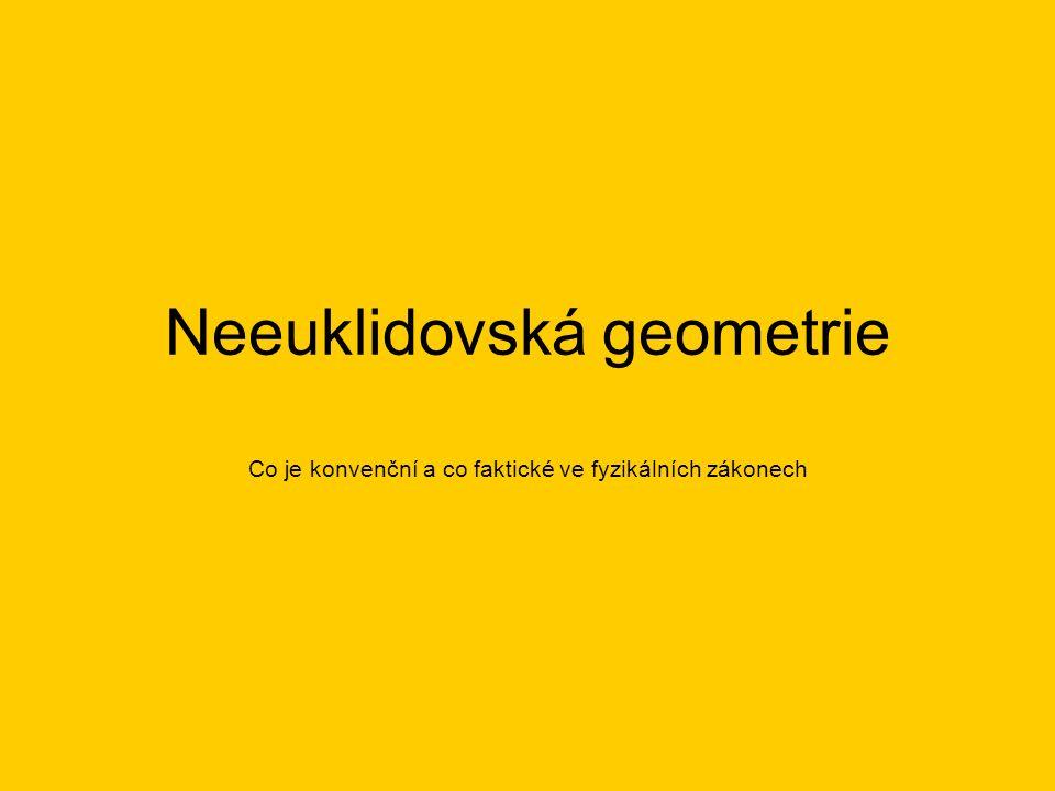 Neeuklidovská geometrie