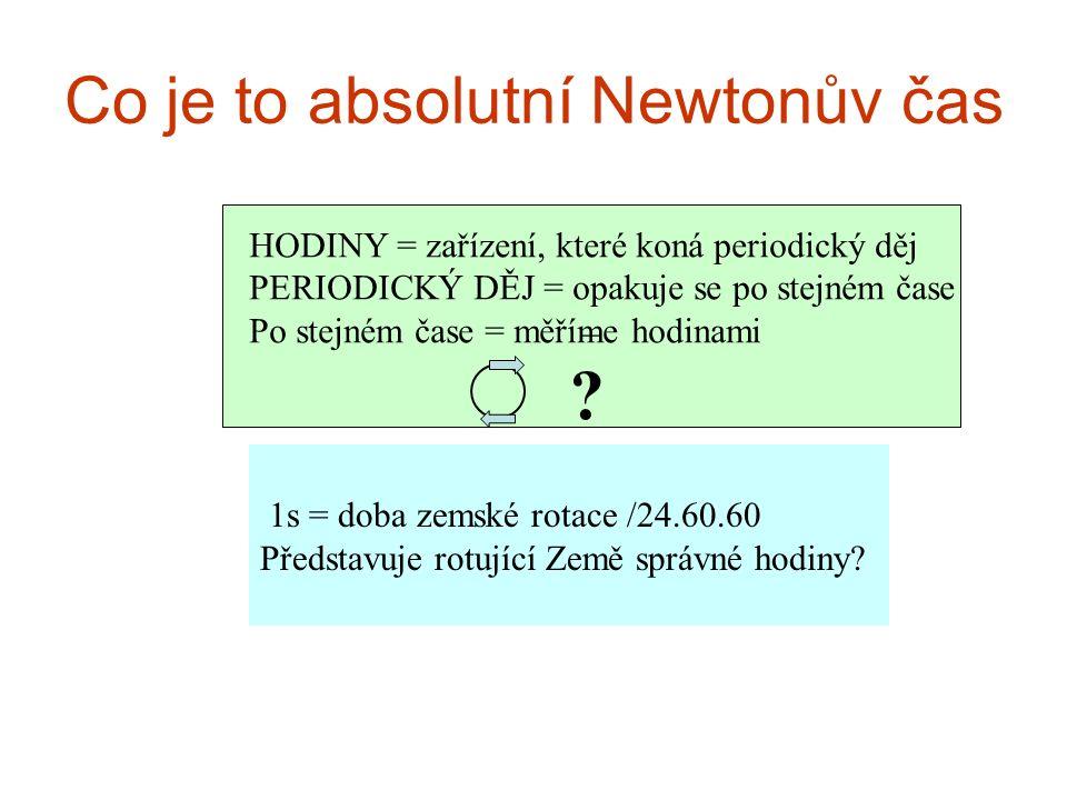 Co je to absolutní Newtonův čas