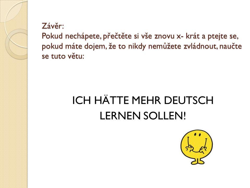 ICH HÄTTE MEHR DEUTSCH LERNEN SOLLEN!