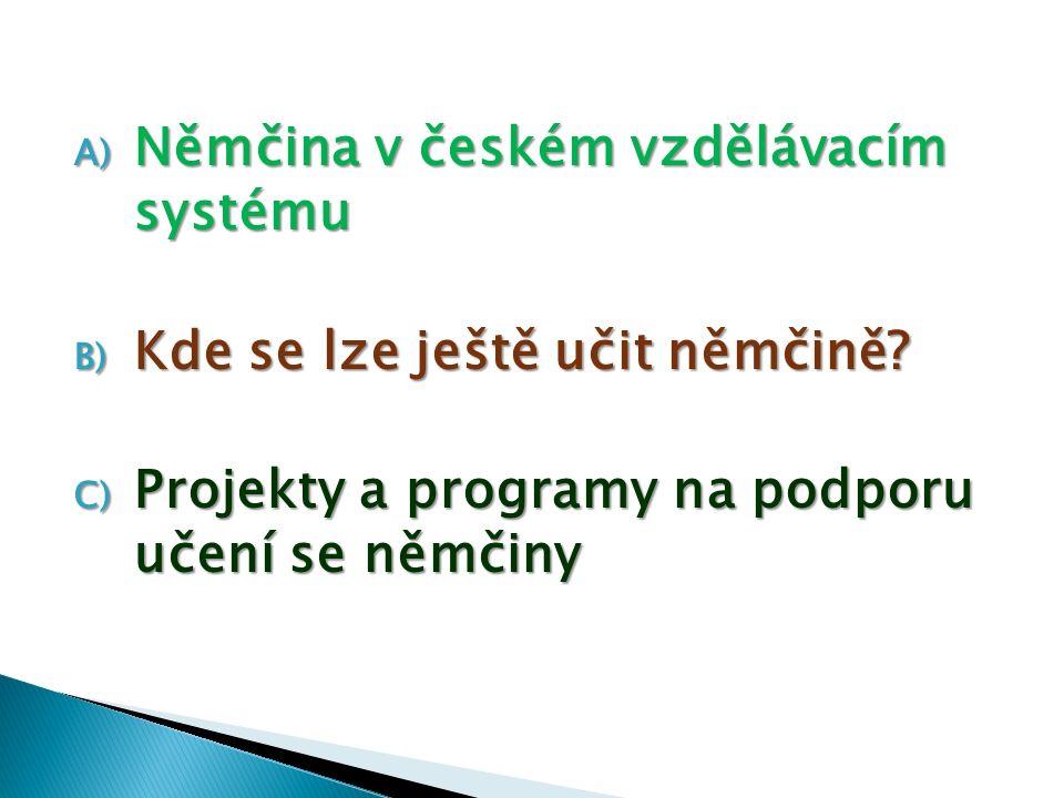 Němčina v českém vzdělávacím systému