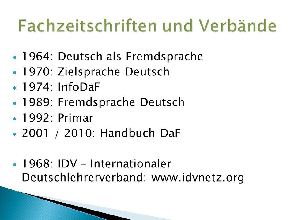 Fachzeitschriften und Verbände