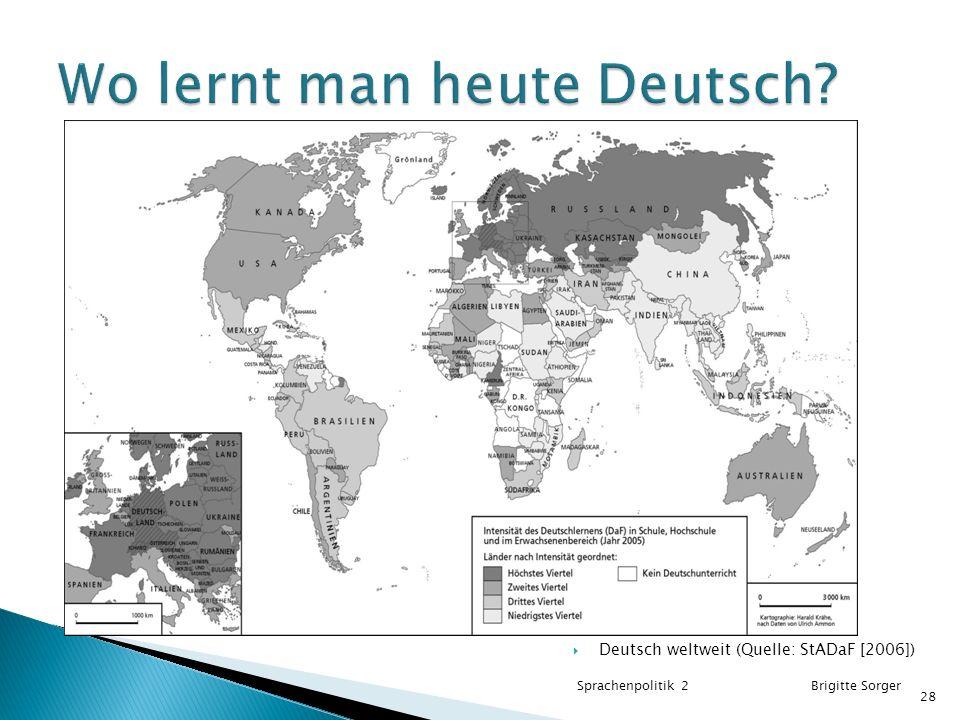Wo lernt man heute Deutsch