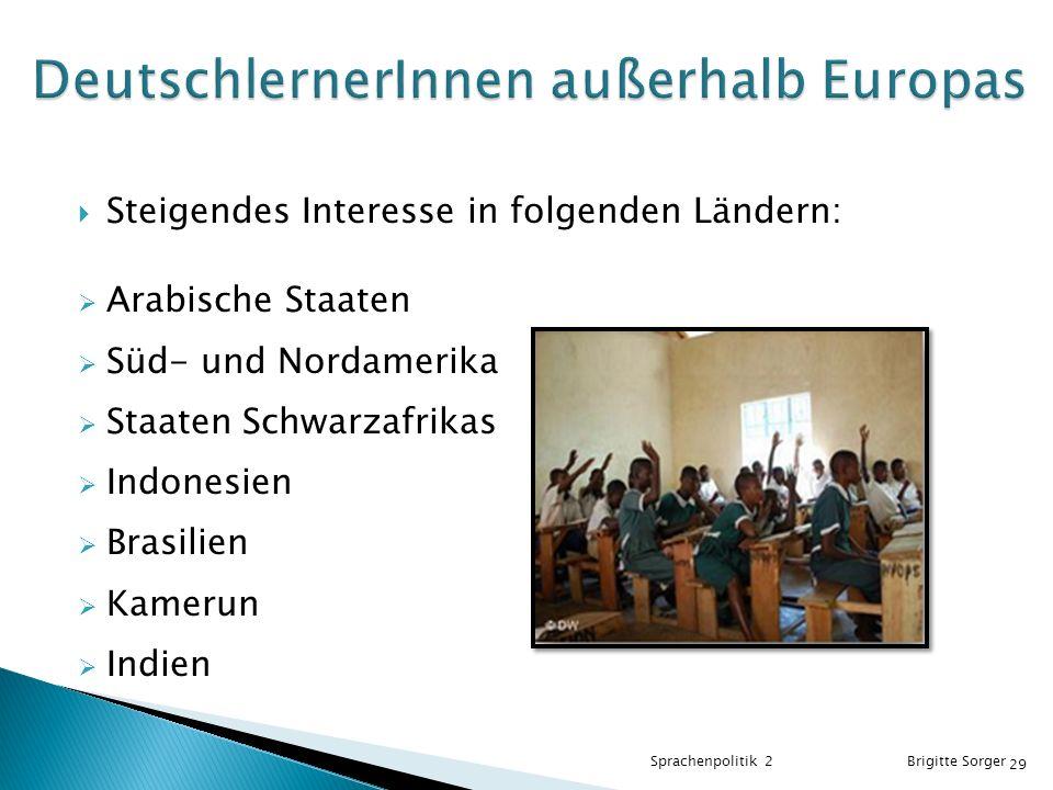 DeutschlernerInnen außerhalb Europas