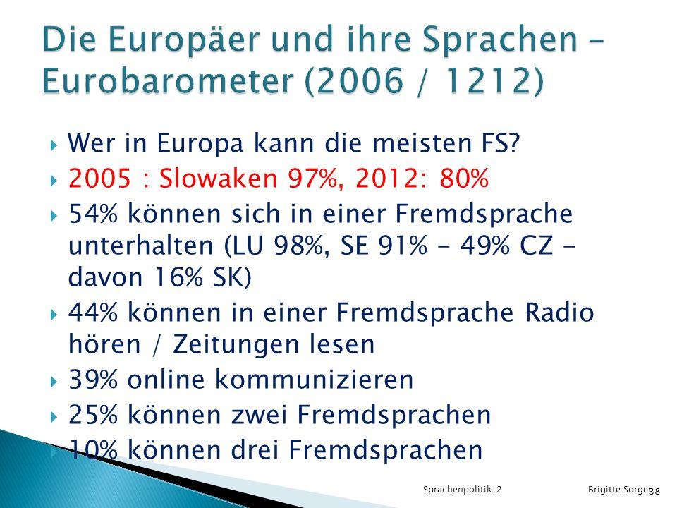 Die Europäer und ihre Sprachen – Eurobarometer (2006 / 1212)