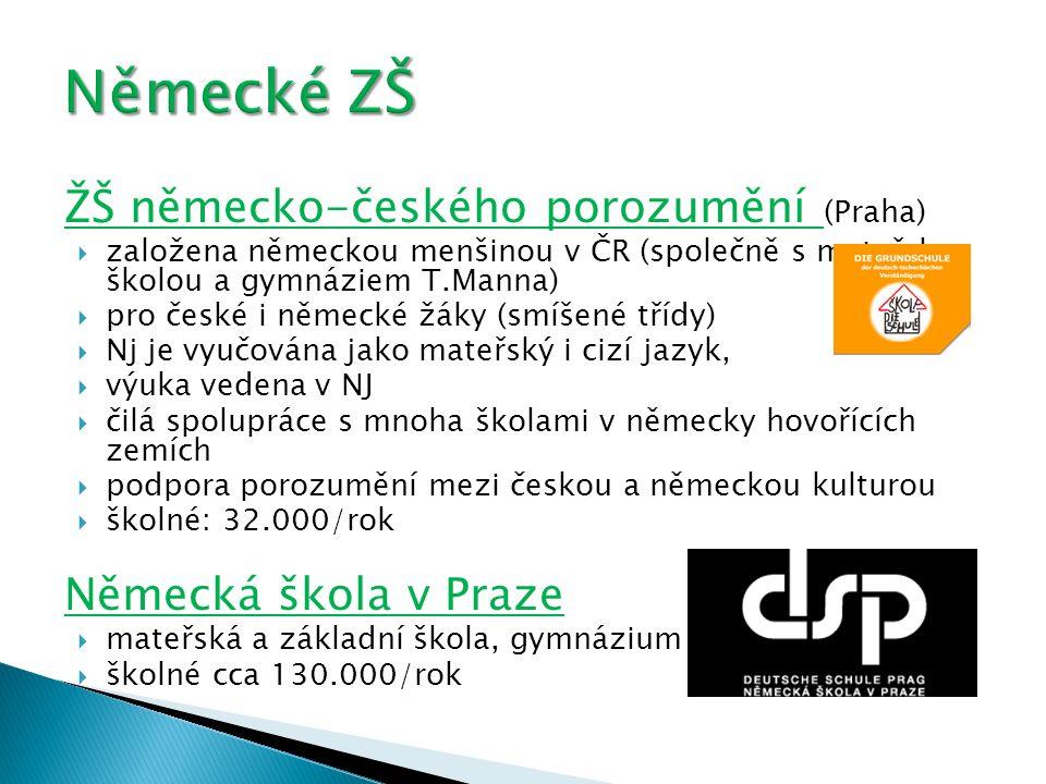 Německé ZŠ ŽŠ německo-českého porozumění (Praha) Německá škola v Praze