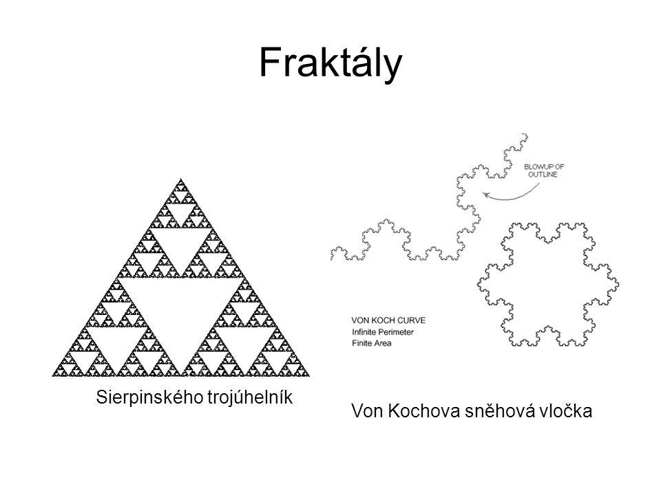 Fraktály Sierpinského trojúhelník Von Kochova sněhová vločka