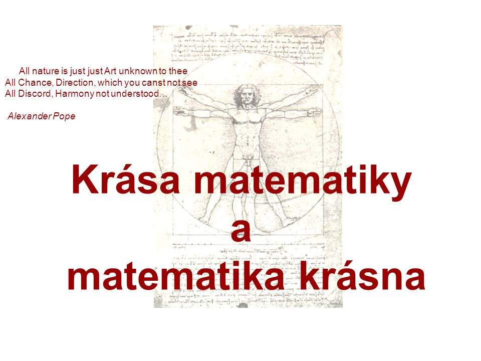 Krása matematiky a matematika krásna