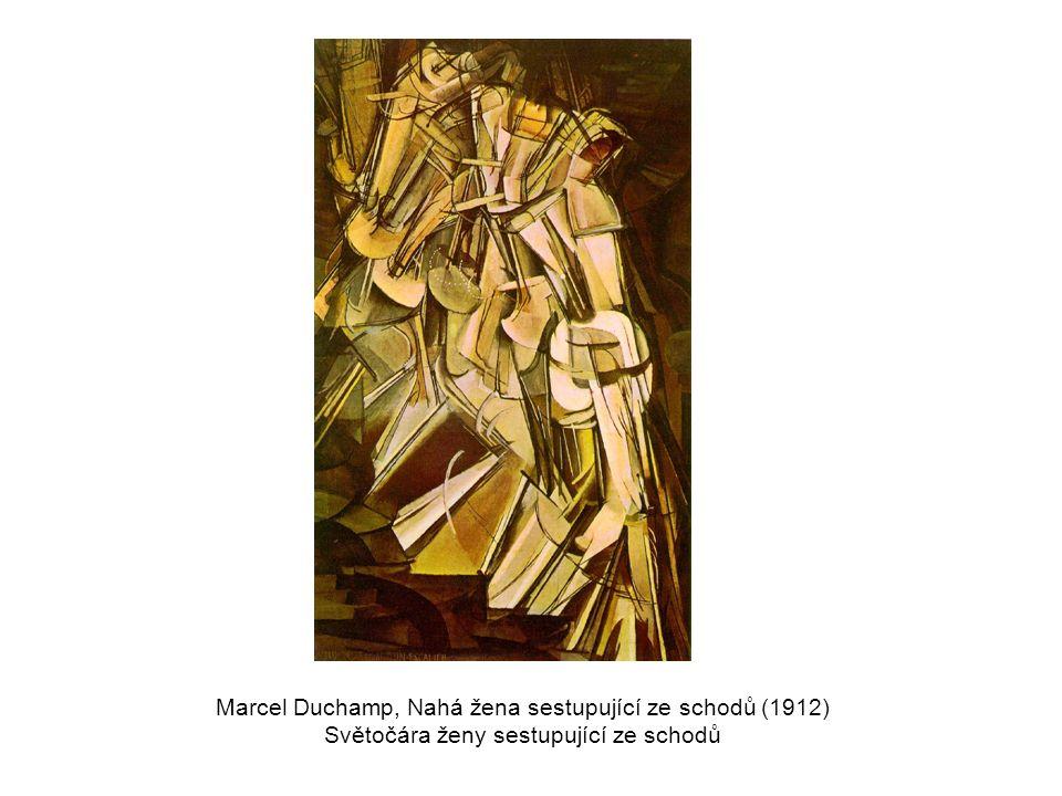 Marcel Duchamp, Nahá žena sestupující ze schodů (1912)