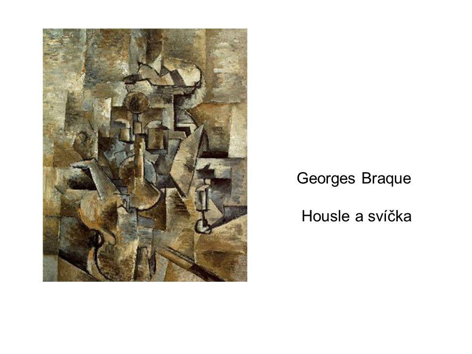 Georges Braque Housle a svíčka