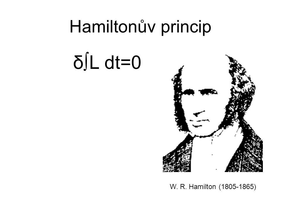 Hamiltonův princip δ∫L dt=0 W. R. Hamilton (1805-1865)
