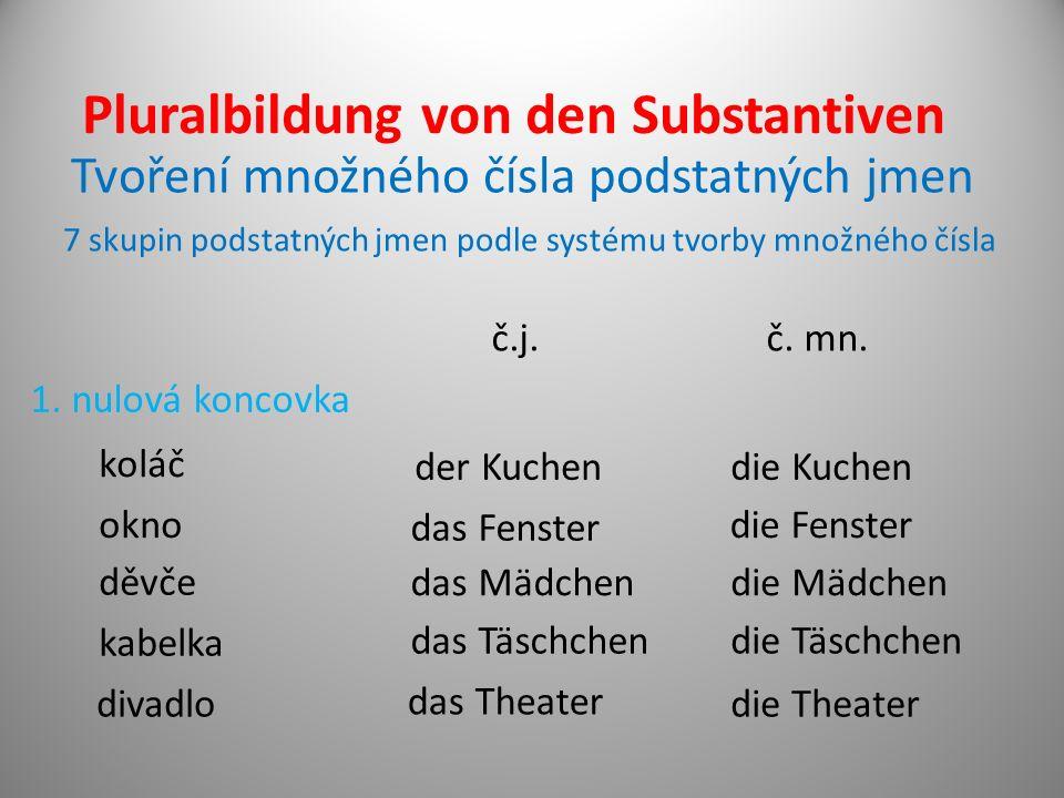 Pluralbildung von den Substantiven