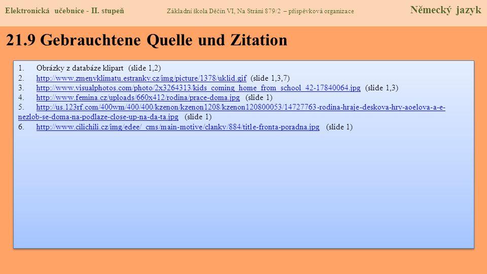 21.9 Gebrauchtene Quelle und Zitation