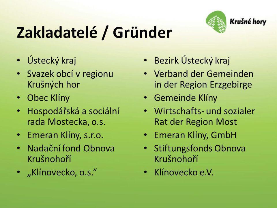 Zakladatelé / Gründer Ústecký kraj Svazek obcí v regionu Krušných hor