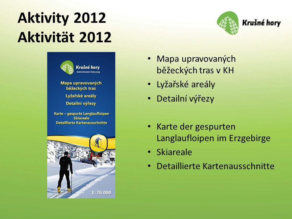 Aktivity 2012 Aktivität 2012 Mapa upravovaných běžeckých tras v KH
