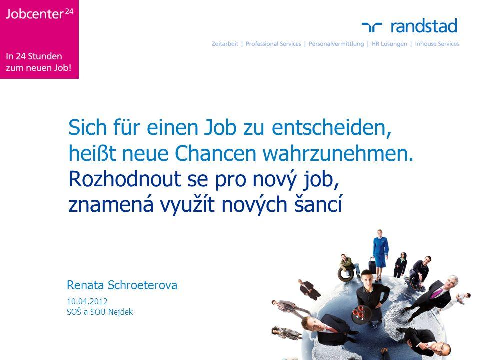 Sich für einen Job zu entscheiden, heißt neue Chancen wahrzunehmen