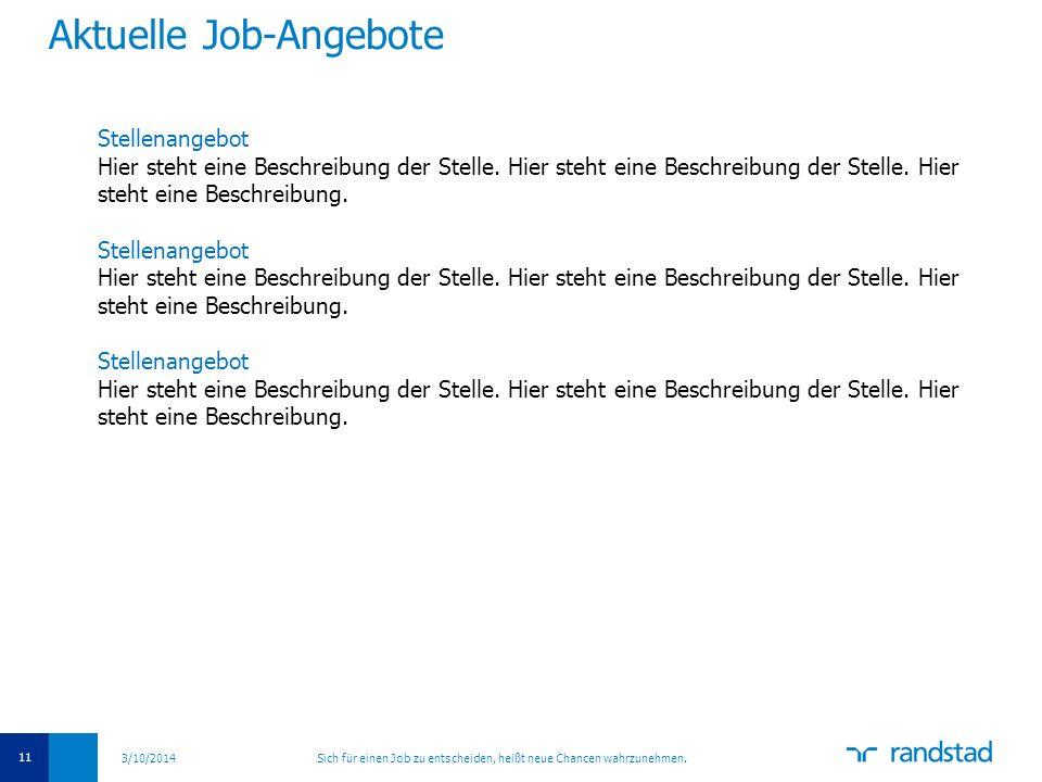 Aktuelle Job-Angebote