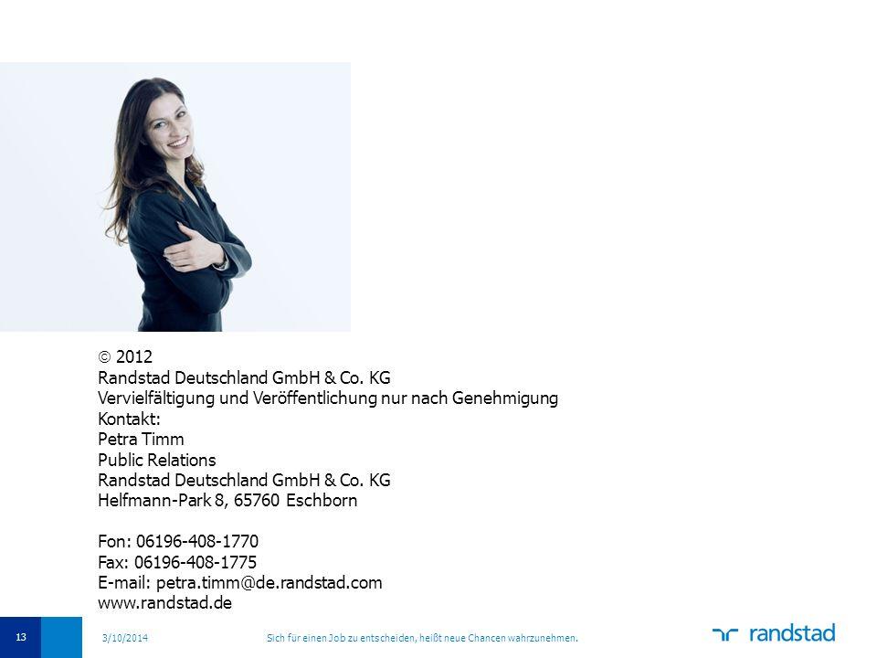  2012 Randstad Deutschland GmbH & Co. KG