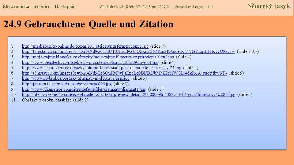 24.9 Gebrauchtene Quelle und Zitation