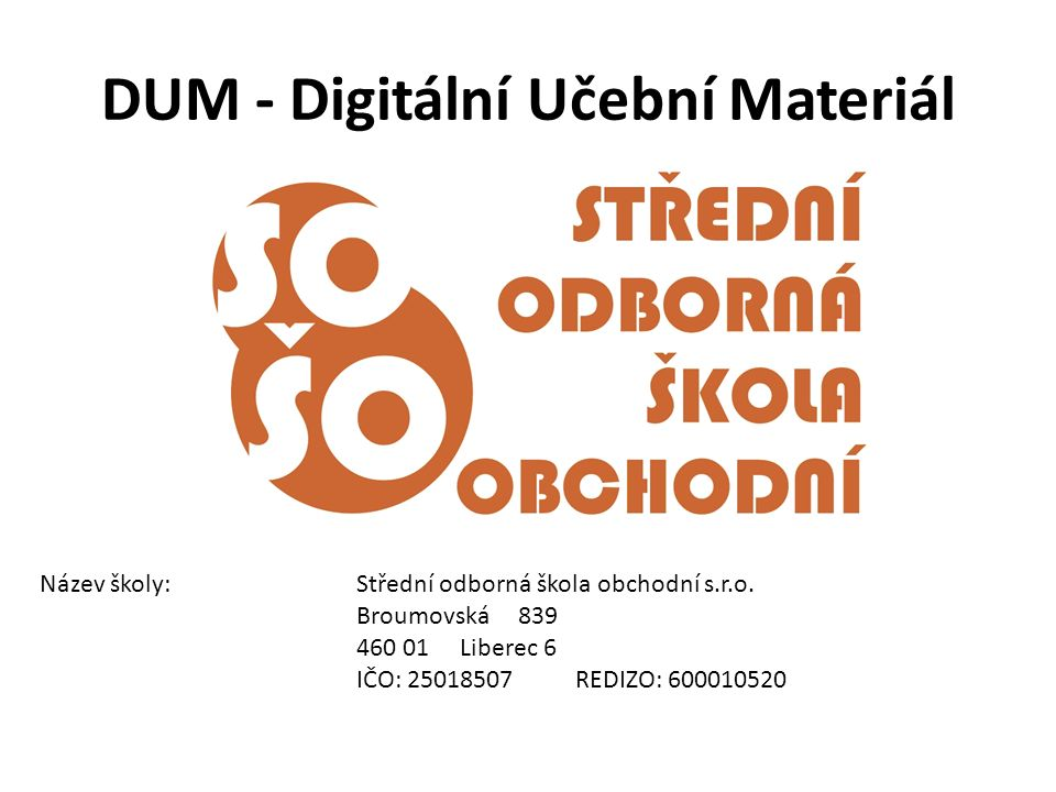 DUM - Digitální Učební Materiál