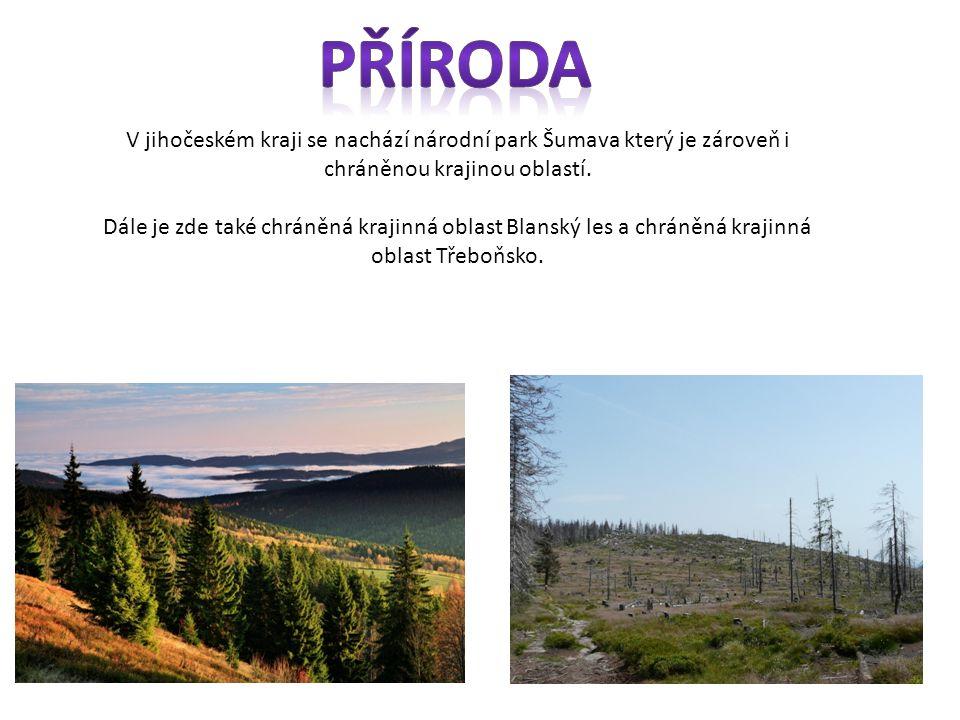 Příroda V jihočeském kraji se nachází národní park Šumava který je zároveň i chráněnou krajinou oblastí.