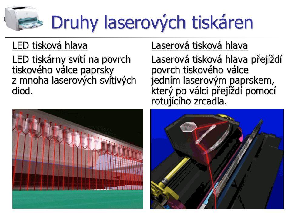 Druhy laserových tiskáren