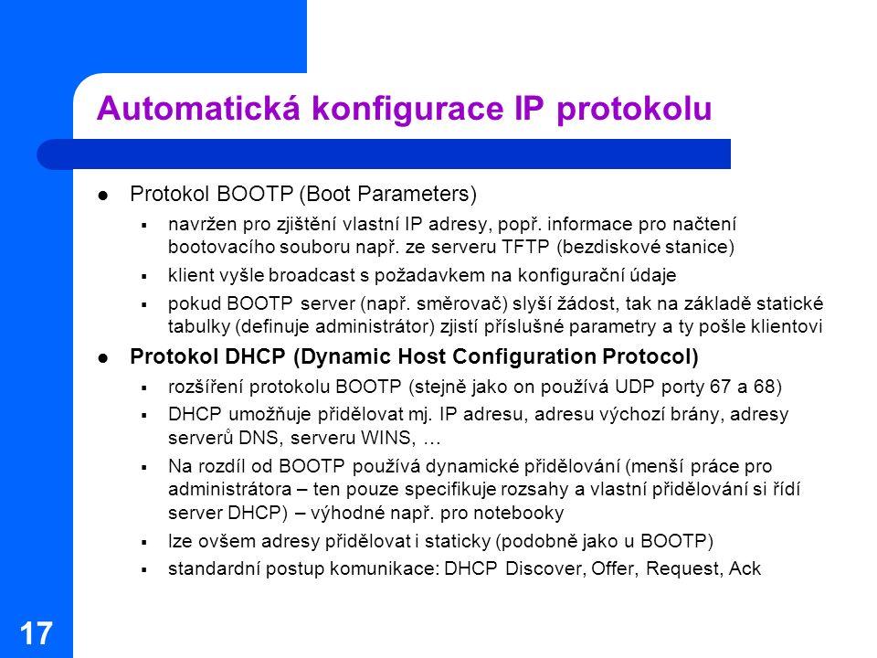 Automatická konfigurace IP protokolu