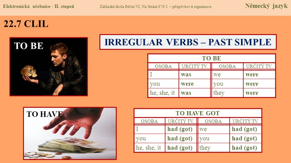 IRREGULAR VERBS – PAST SIMPLE