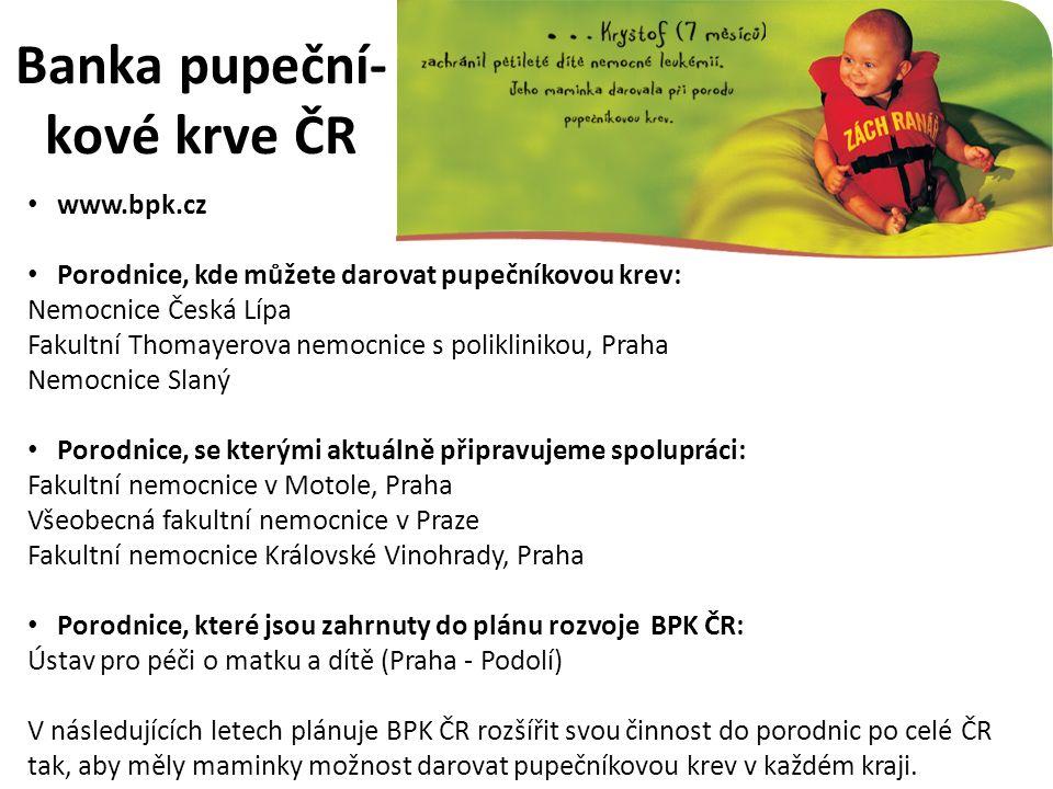 Banka pupeční- kové krve ČR