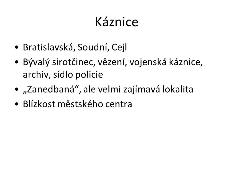 Káznice Bratislavská, Soudní, Cejl